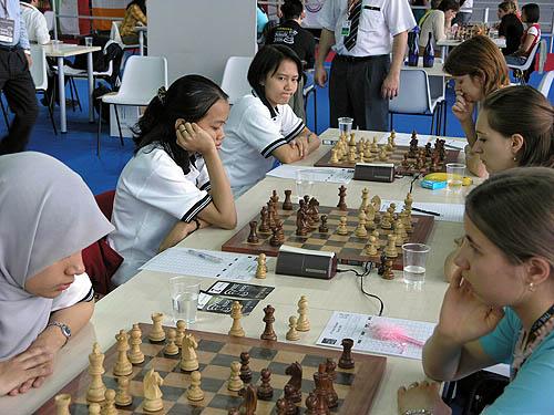 Malaysia vs. Switzerland (women). Copyright © 2006, Daaim Shabazz.