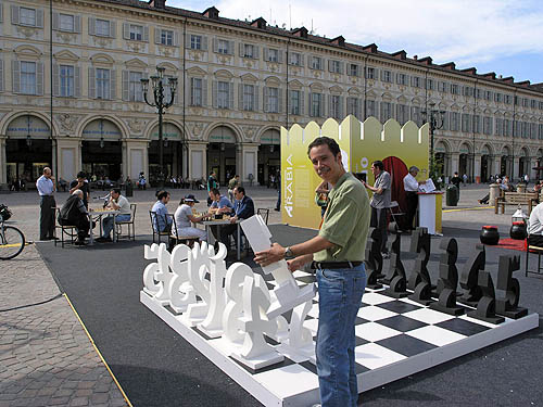 Allan Herbert with 'Number Chess Set.' Copyright © 2006, Daaim Shabazz.