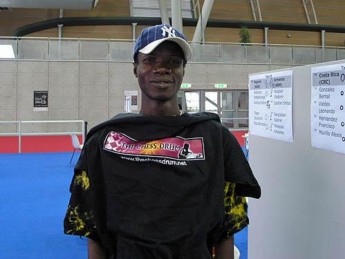 Bunmi Olape, a major Drum supporter (Nigeria). Copyright © 2006, Daaim Shabazz.