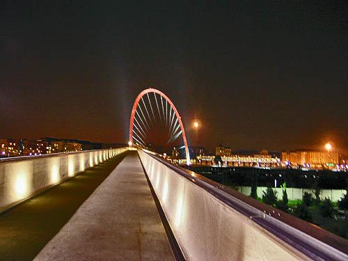 Olympic Arch at night. Copyright © 2006, Daaim Shabazz.