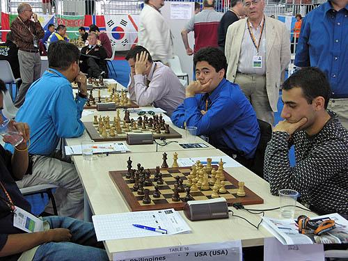 Philippines vs. USA (men). Copyright © 2006, Daaim Shabazz.