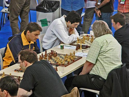 Alexander Morozevich and Vladimir Kramnik made stand against Germany. Copyright © 2006, Daaim Shabazz.