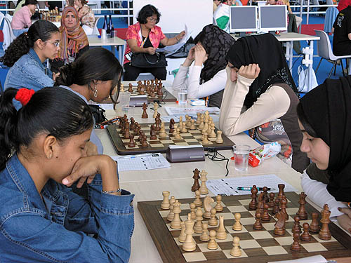 Suriname vs. UAE (women). Copyright © 2006, Daaim Shabazz.