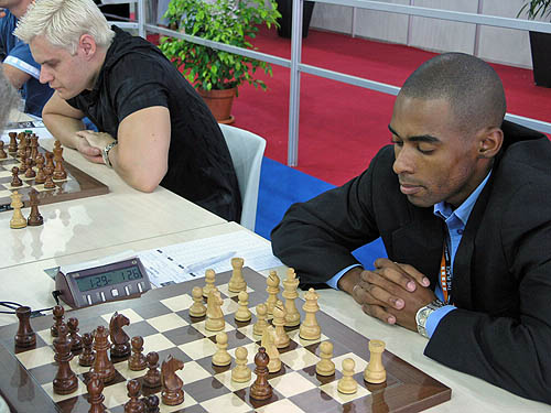 IM Kenny Solomon at the 2006 Chess Olympiad in turin, Italy. Photo by Daaim Shabazz.