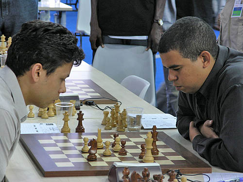 GM Rafael Leitao (Brazil) vs. GM Neuris Delgado (Cuba)