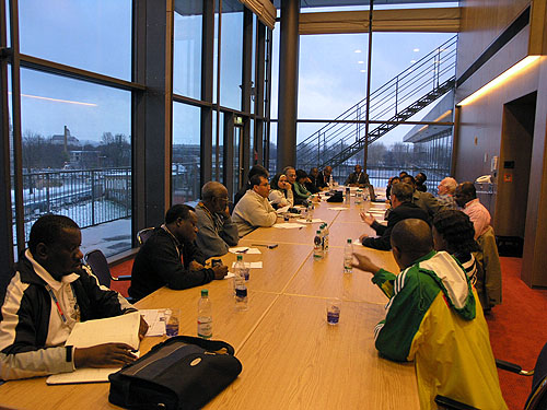 African Continental Meeting at the 2008 Olympiad in Dresden, Germany. Photo by Daaim Shabazz.