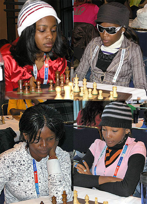 Angola women's team: (clockwise from left): Fatima Reis, Lucia Guimaraes, Valquiria Rocha, Sonia Rosalina. Not pictured Nelma Lopes. Photos by Daaim Shabazz.