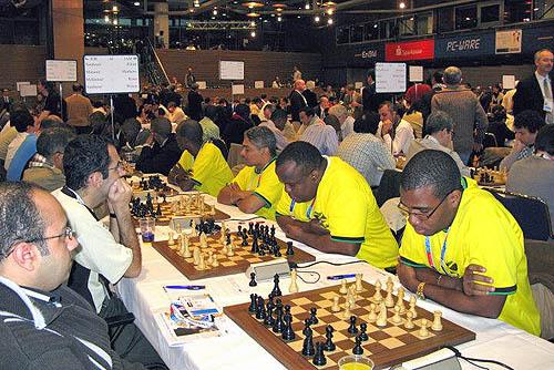 Jamaica playing Jordan: (R-L) Jamaica - Brandon Wilson, Duane Rowe, Shane Matthews, FM Warren Elliott. Photo by Ian Wilkinson.
