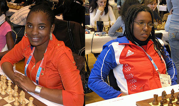 Tshepiso Lopang (Botswana), WIM Oleiny Linares-Napoles (Cuba). Photo by Daaim Shabazz.