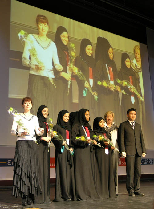 Qatari women win Category E prize! Photo by Daaim Shabazz.