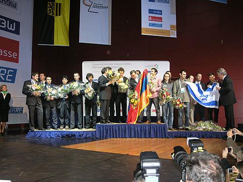 Team Medal Stand: USA, Armenia, Israel. Photo by Daaim Shabazz.