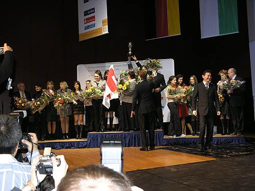 Team Medal Stand: Ukraine, Georgia, USA. Photo by Daaim Shabazz.