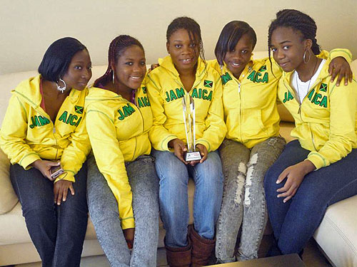 Jamaica: 2010 Chess Olympiad Category 'E' winners. Photo by Ian Wilkinson.