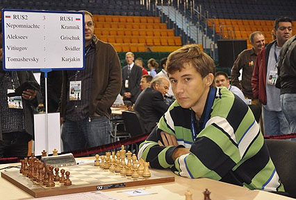 Sergey Karjakin is finally living up to his early promise. The record-holder for the world's youngest Grandmaster at 12 years, 7 months, the Ukrainian emigre is now #4 on the rating chart. Photo by ugra-chess.com.