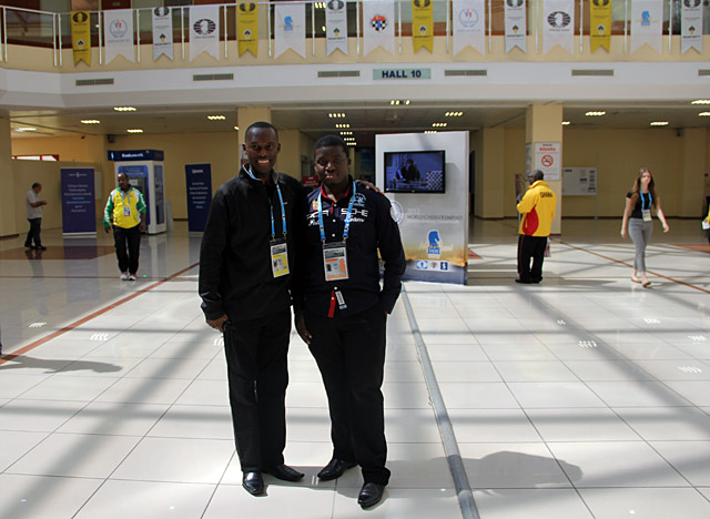 Daaim Shabazz and Maruatona at the 2012 Chess Olympiad in Istanbul, Turkey. Photo by Daaim Shabazz.