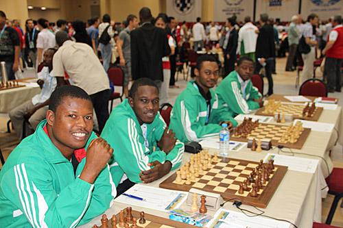 Team Nigeria! (L-R) Bomo Kigigha, Oragwu Chukwunonso, Balogun Oluwafemi, Adesina Adeyinka