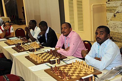 Sudan (R-L): Abubukr Abdalsalam, Mohammed Elnasri, Jamal Adam, FM Rashid Yagoub