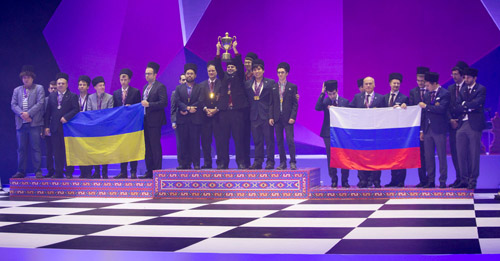 Winners: Ukraine (silver), USA (gold), Russia (bronze)