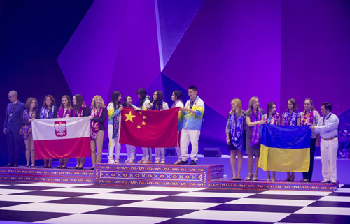 Winners: Poland (silver), China (gold), Ukraine (bronze)