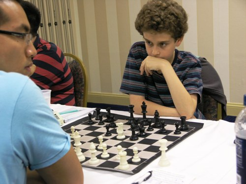Gary Ng vs. Daniel Naroditsky. Photo by Daaim Shabazz.