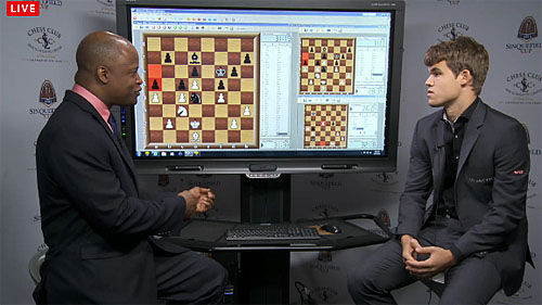Yesterday, Carlsen said he intended to