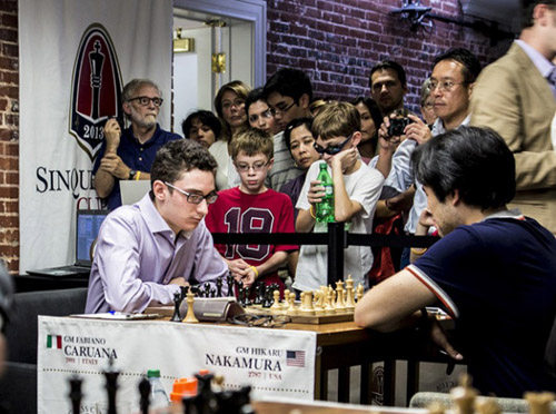 Two American products facing off! Photo by uschesschamps.com.