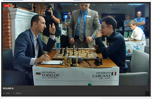 Topalov resigns and was gracious in the post-game interview.