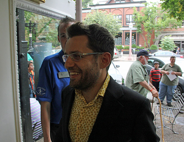 Levon Aronian, 2015 Sinquefield Cup champion! Photo by Daaim Shabazz.