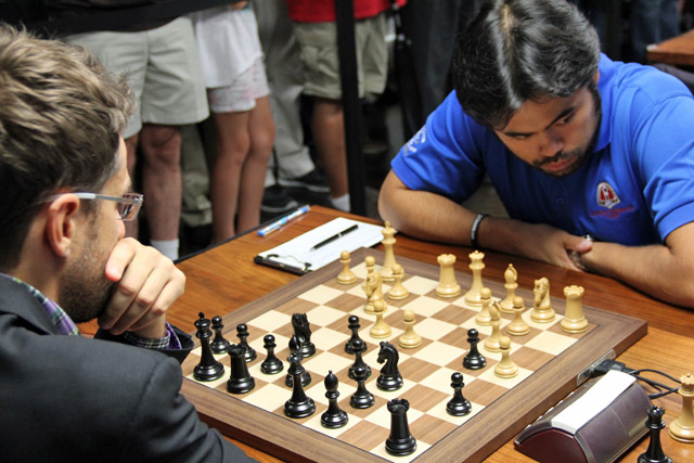 Nakamura seemed to have problems with his prep. Photo by Daaim Shabazz.