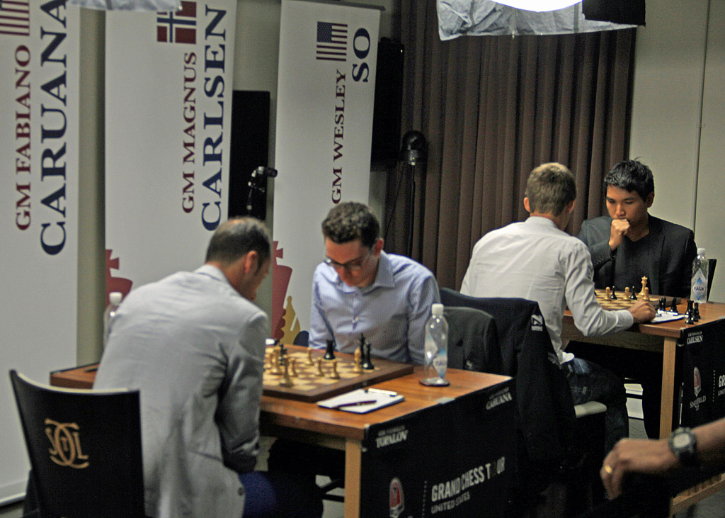 Intensity reigned at end of Round #5 with two decisive games.