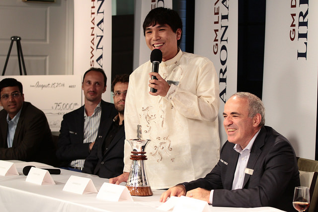 Wesley So makes his statement.