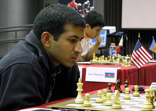 GM Vinay Bhat with GM Wesley So in background.