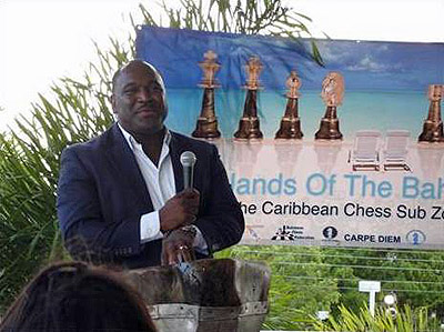 Kean Smith, President of Bahamas Chess Federation
