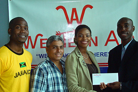 National Champion of Jamaica FIDE Master Warren Elliott receives sponsored ticket from Western Air to participate in the 2010 Subzonal Championships.