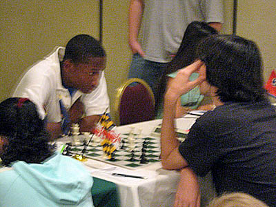 Jimmy Canty (right) at the 2007 Denker Tournament of Champions. Photo by Michael Williams.