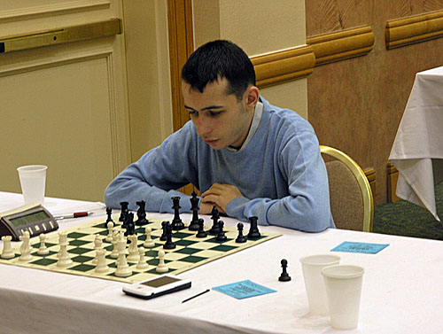 GM Aleksandr Lenderman. Photo by Daaim Shabazz.