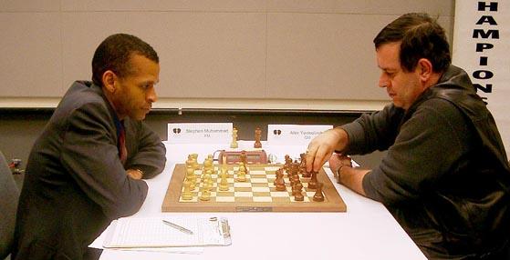 FM Stephen Muhammad vs. GM Alexander Yermolinsky (Round 6)