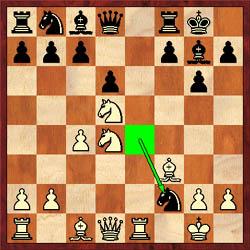 An alert Battsetseg plays 11.Nxf2!