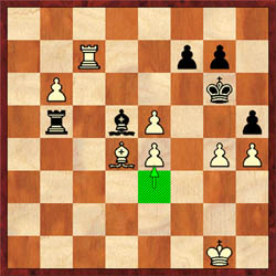 Muhammad uncorks a nice pawn combination with 36.e4! On 36…Bxe4, 37.e6! wins.