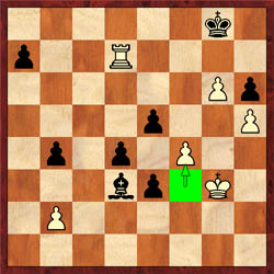 Crucial moment… Nakamura played 45.f4? Ibragimov missed the winning line.