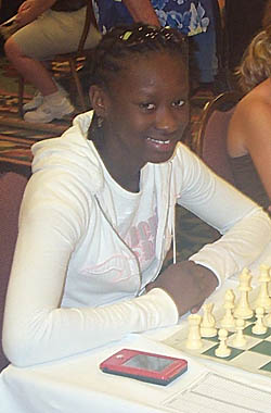 Jessica Wamala at the 2006 Polgar Girls' Invitational. Photo by Daaim Shabazz.