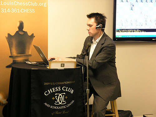 Macauley Peterson (ICC/Chess.FM). Photo by Daaim Shabazz.