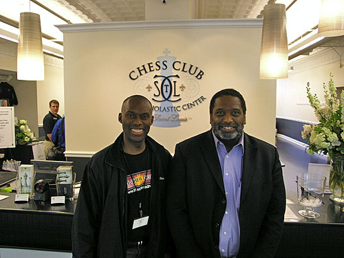 Daaim Shabazz (The Chess Drum) and National Master Charles Lawton