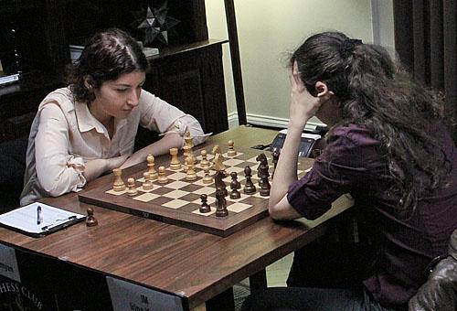 Tatev Abrahamyan tried a bold approach against Irina Krush.
