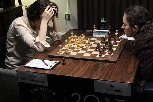WGM Tatev Abrahamyan vs. Irina Krush, 0-1