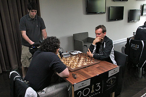 FM John Bryant vs. GM Timur Gareev, 1/2-1/2.