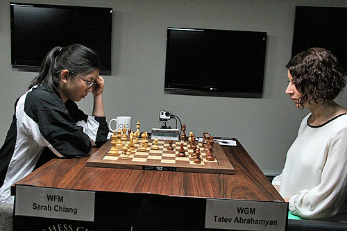 NM Sarah Chiang vs. WGM Tatev Abrahamyan, 1/2-1/2