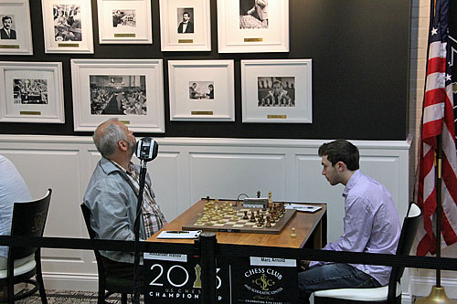 Alexander Ivanov looking for inspiration from the greats. It didn't quite help against Marc Arnold.