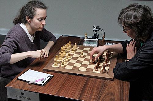 IM Irina Krush vs. WGM Camilla Baginskaite, 1/2-1/2.