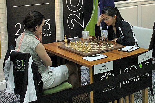 Sarah Chiang was relieved to win her first game against Viktorija Ni, 0-1.